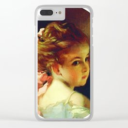 Vintage Updo Hairdo Clear iPhone Case