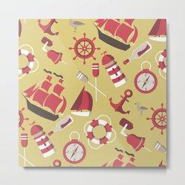 Marine And Nautical Theme Metal Print