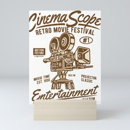 Cinema Scope - Retro Movie Fistival Mini Art Print