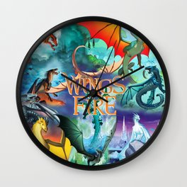 Wings Of Fire Painting Wall Clock