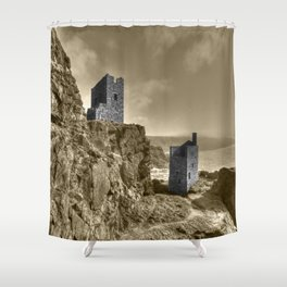 Crown Tin Mines  Shower Curtain