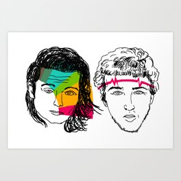 Daft Punk portrait Art Print