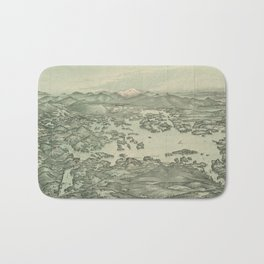 Vintage Pictorial Map of Lake Winnipesaukee (1903) Bath Mat