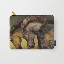 HORSES-Gunmetal Carry-All Pouch