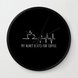 My Heart Beats For Coffee Wall Clock