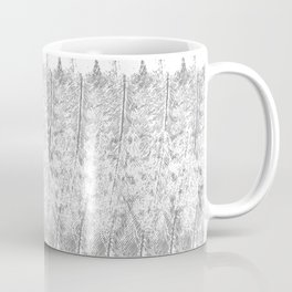 Feather Pattern | Grey and White Coffee Mug
