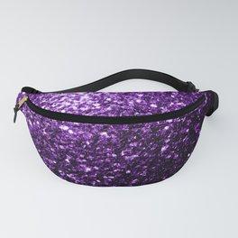 Beautiful Dark Purple glitter sparkles Fanny Pack