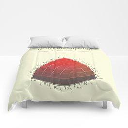 Le Rouge-Orangé (ses diverses nuances combinées avec le noir) Remake Comforters