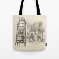 italy Tote Bags featuring italy by Natasha79