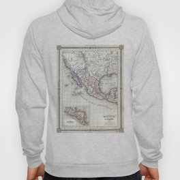 Vintage Map of Mexico (1852) Hoody
