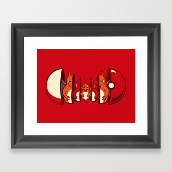 Poketryoshka - Fire Type Framed Art Print