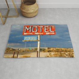 Vintage Motel Road Sign Rug