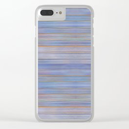 Colorful Abstract Stripped Pattern Clear iPhone Case