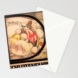 retro iconic Schlittenfahrt poster Stationery Cards