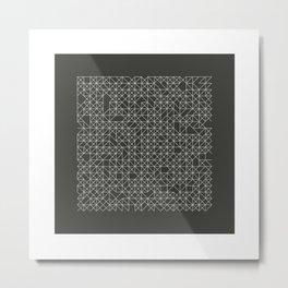 #58 Crossword  – Geometry Daily Metal Print