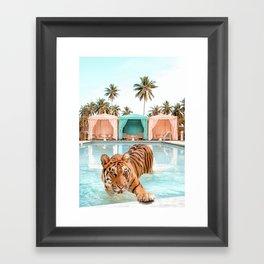 Cabana Tiger Framed Art Print