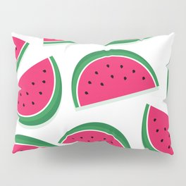 Juicy Watermelon Slices (white) Pillow Sham