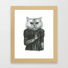Cat Child Framed Art Print