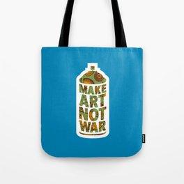 Make Art Not War (African pattern blue) Tote Bag