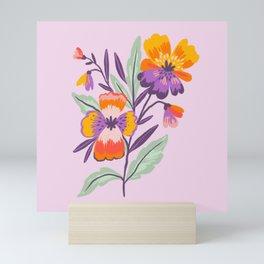 Pansies Mini Art Print