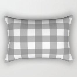 Gingham (Gray/White) Rectangular Pillow