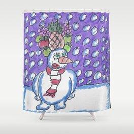 Christmas #11 Snow Miranda Shower Curtain