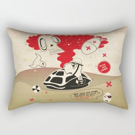 Duck and Cover Propaganda  Rectangular Pillow