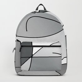 ABSTRACT CURVES #1 (Grays & White) Backpack
