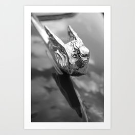 1941 Cadillac Convertible Hood Ornament Art Print