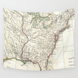 Thirteen Colonies Vintage Map (1776) Wall Tapestry