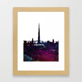 Burj Khalifa Artwork Framed Art Print