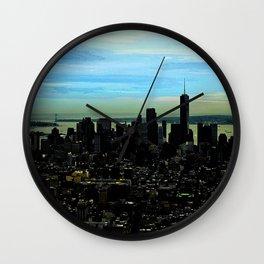 Artistic NYC Skyline Wall Clock