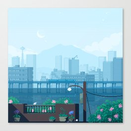 Seattle Morning Canvas Print