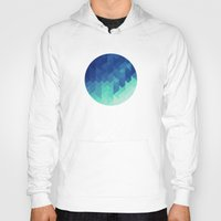 polygon Hoodies featuring Polygon Planet by Victor Velocity