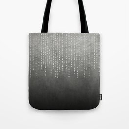 Silver Glamour Faux Glitter on grey Texture Tote Bag