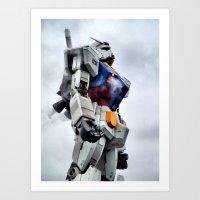 gundam Art Prints featuring Gundam Pride by Julie Maxwell