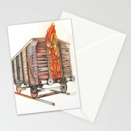 Death Traing Stationery Cards
