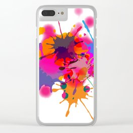 ink splash Clear iPhone Case