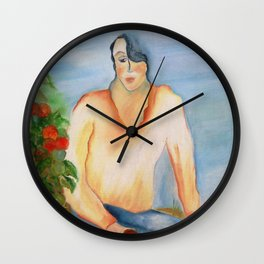 Colhendo tomates (Picking tomatoes) Wall Clock