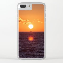 between suns and over  the oceans Clear iPhone Case