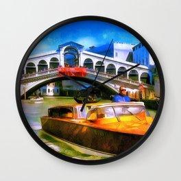 Motoscafi Venice Rialto Wall Clock
