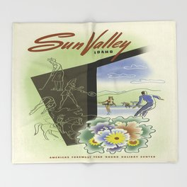 Vintage poster - Sun Valley, Idaho Throw Blanket