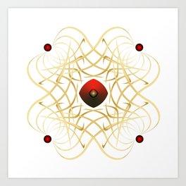 Fleuron Composition No. 43.1 Art Print