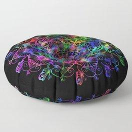 Butterfly mandala Floor Pillow
