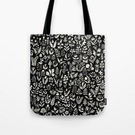 Black and white botanical pattern Tote Bag