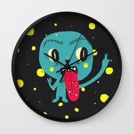 weird little guy Wall Clock