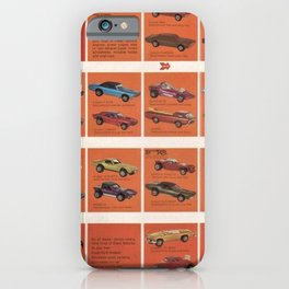 1969 Hot Wheels Redline Catalog Poster No 8 iPhone Case