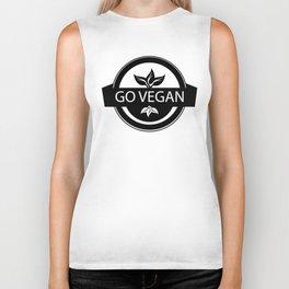 Monochrome Go Vegan Plant Design Biker Tank