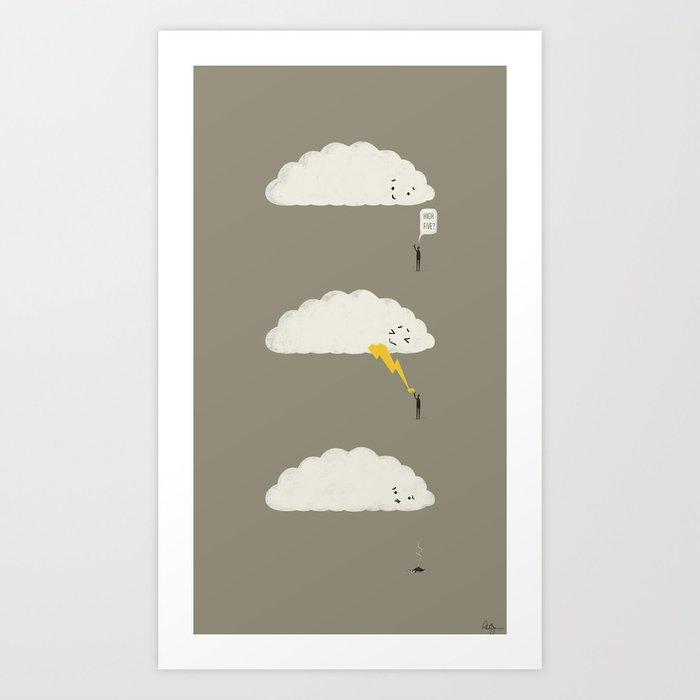 Cloud High Five Art Print