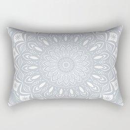 Cool Gray Mandala Simplistic Bold Minimal Minimalistic Rectangular Pillow